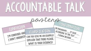Accountable Talk Classroom Posters