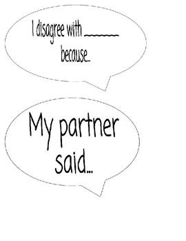 Accountable Talk Conversation Bubbles Poster Pieces