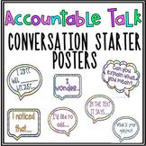 Accountable Talk Conversation Starters: Common Core Speaking & Listening