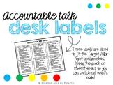 Accountable Talk Desk Labels