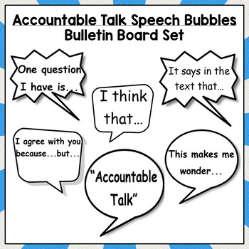 Accountable Talk Desk Tags and Bulletin Board Set (Set 2)