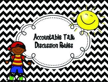 Accountable Talk Discussion Rules {Chevron Design}