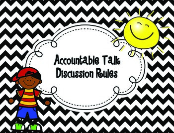 Accountable Talk Discussion Rules {Chevron Design}