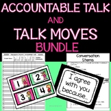 Accountable Talk and Talk Moves Teacher Guide, Posters, and Desk Tags BUNDLE
