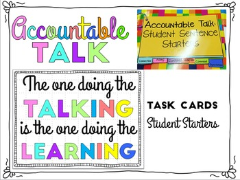 Accountable Talk Flip Book for Students Kagan