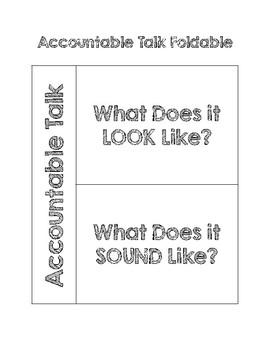Accountable Talk Foldable