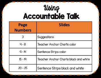 Accountable Talk Frames for Student Discourse