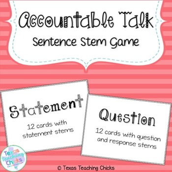 Accountable Talk Game