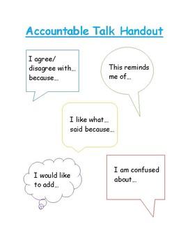 Accountable Talk Handout