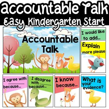 Accountable Talk Kindergarten Posters Power Point