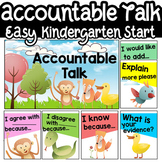 Accountable Talk Kindergarten Posters
