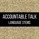 Accountable Talk Language Stems FREEBIE