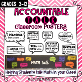 Accountable Talk - Math Prompt Posters