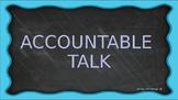 Accountable Talk & Mathematical Practices Bulletin Board T