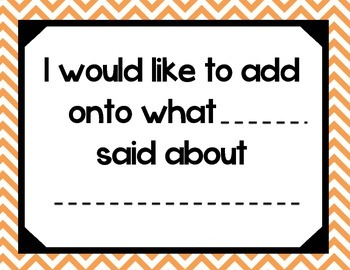 Accountable Talk - Orange Chevron