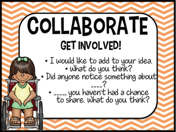 Accountable Talk - POSTERS - Converstation starters INCLUDED!