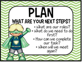 Accountable Talk - POSTERS - SUPERHERO THEME -Converstation starters INCLUDED!