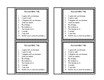 Accountable Talk Pack