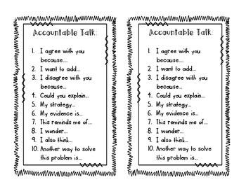 Accountable Talk Pack
