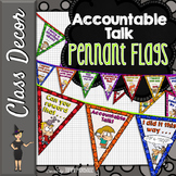 Accountable Talk Pennant Banners - Bright Circles