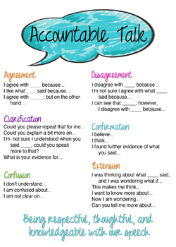 Accountable Talk Poster