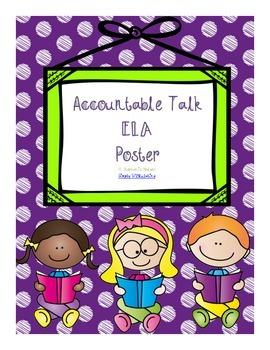 Accountable Talk Poster ELA