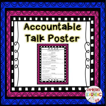 Accountable Talk Poster FREEBIE
