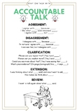 Accountable Talk Poster/Handout for ESL/ELL