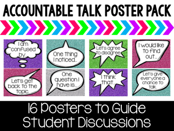 Accountable Talk Poster Pack - Glitter Brights