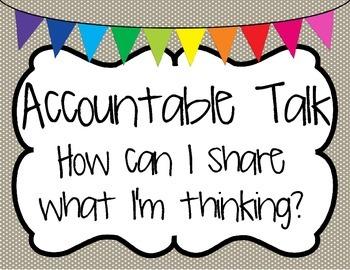 Accountable Talk Poster Set