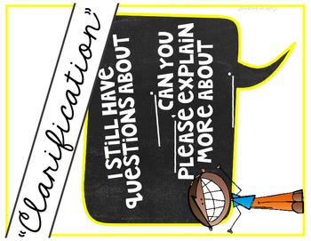 Accountable Talk Poster Set Chalkboard Theme
