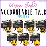 Accountable Talk Poster Set Emoji Theme