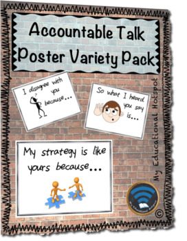 Accountable Talk Poster Set (w/ personal student reference sheets)