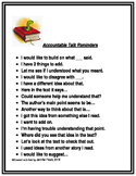 Accountable Talk Poster and Bookmarks