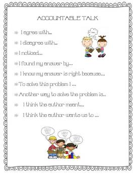 Accountable Talk Poster for Primary Grades