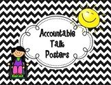 Accountable Talk Posters {Chevron Background}