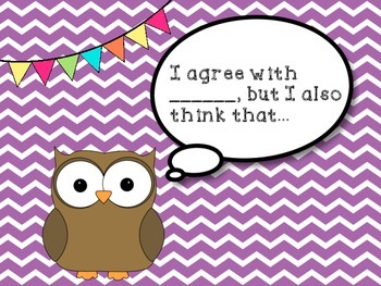 Accountable Talk Posters {Owl Themed}