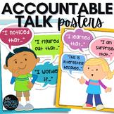 Accountable Talk Sentence Stem Posters