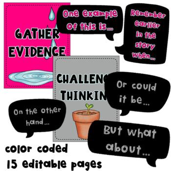 Accountable Talk Posters, Accountable Talk Stems~ Editable