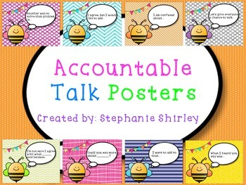 Accountable Talk Posters {Bee Themed}