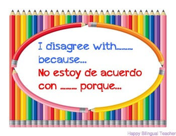 Accountable Talk Posters (Bilingual)