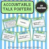 Accountable Talk Posters FULL Sheet- Blue & Green Pastel