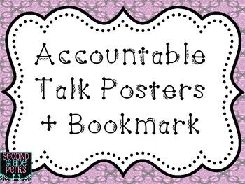 Accountable Talk Posters + Bookmark {Freebie}