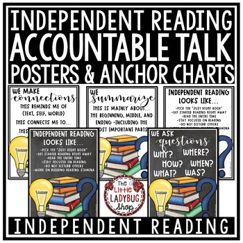 Independent Reading Activities & Accountable Reading Strategies Posters