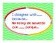 Accountable Talk Posters - Bright Chevron (Bilingual)