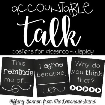 Accountable Talk Posters {Chalkboard Style}