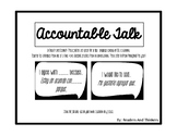 Accountable Talk Posters::English and Spansih