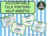 Accountable Talk Posters HALF Sheets- Blue & Green Pastel