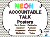 Accountable Talk Posters - Neon & Chevron
