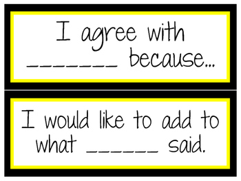 Accountable Talk Posters to Display